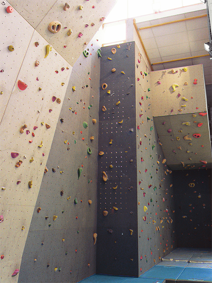 Mur d'escalade - Gymnase Descartes, Construction & extension d'une salle multisports