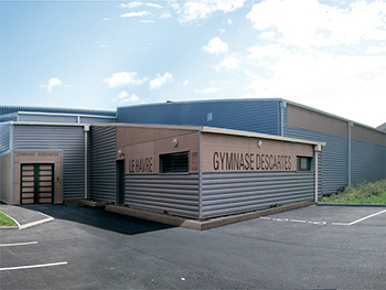 Gymnase Descartes, Construction & extension d'une salle multisports - Le Havre