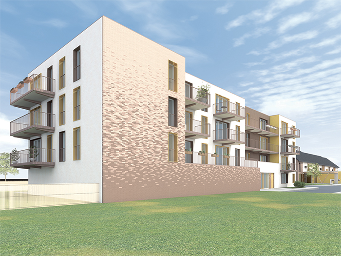 Perspective des logements individuels - Construction de 60 logements individuels & collectifs